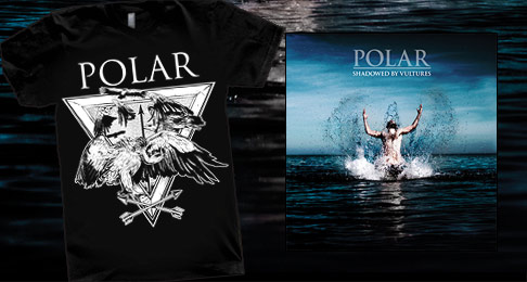Polar Tshirt + 'Shadowed By Vultures' CD